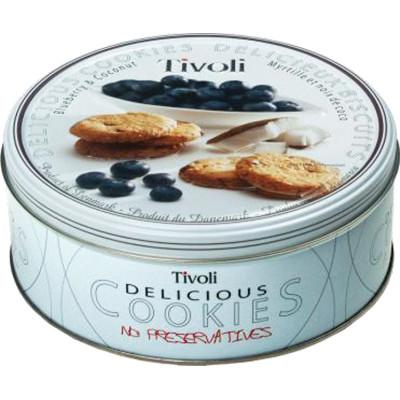Tivoli Blueberry Coconut Cookie Tin