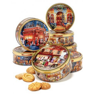 Jacobsens of Denmark Scenes of Europe 3 Assorted Cookies