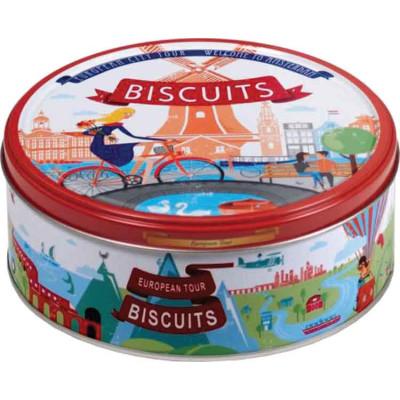 Jacobsens European Tour Cookie Tin Assortment