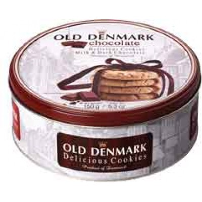 Old Denmark Milk & Dark Chocolate Cookie Tin