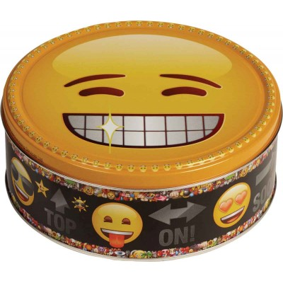 Jacobsens of Denmark Chocolate Chip Cookie Emoji Tins Asst