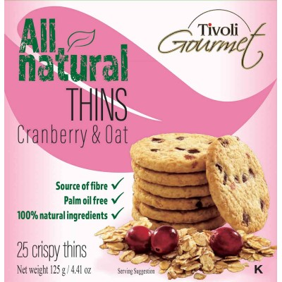 Tivoli Cranberry Oat Cookie Thins