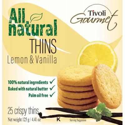 Tivoli Lemon Vanilla Cookie Thins