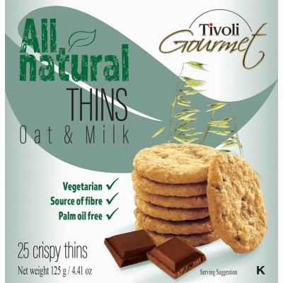 Tivoli Oat & Milk Chocolate Cookie Thins