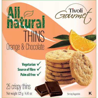 Tivoli Dark Chocolate Orange Cookie Thins