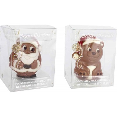 Belfine Santa & Bear in Acetate Box (12 each)
