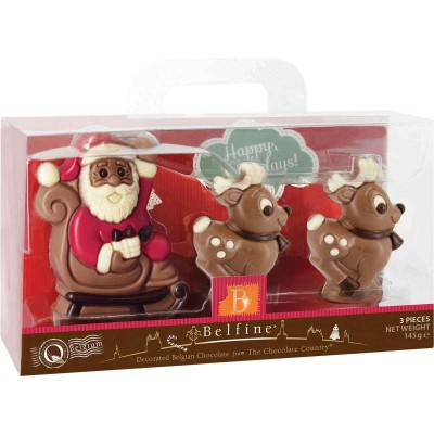 Belfine Santa & Reindeer in Acetax Box