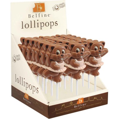 Belfine Minou Chocolate Lollipops