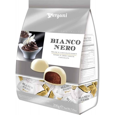 Vergani Bianco Nero White & Dark Chocolate with Dark Chocolate Ganache