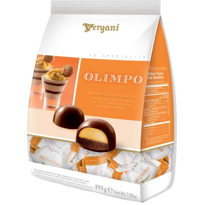 Vergani Olimpo Milk Chocolate with Zabaione, Coffee, and Amaretti Cream