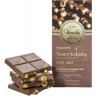 Venchi Milk Chocolate with Hazelnuts