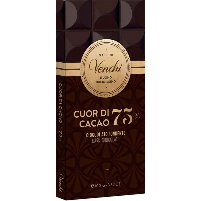 Venchi 75% Dark Chocolate Bar