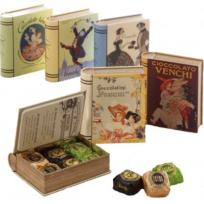 Venchi Mini Book 6 Piece Chocolate Tin