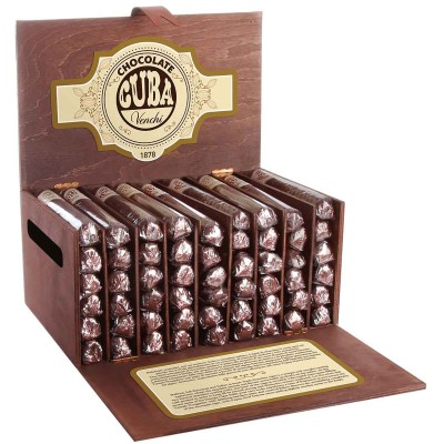 Venchi Chocolate Cigars in Wooden Box