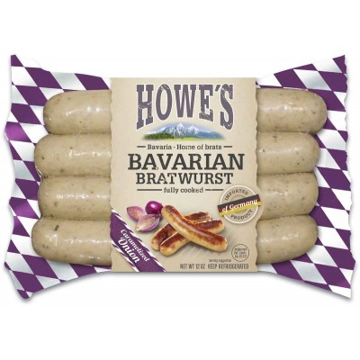 Howes Premium Carmelized Onion Bratwurst