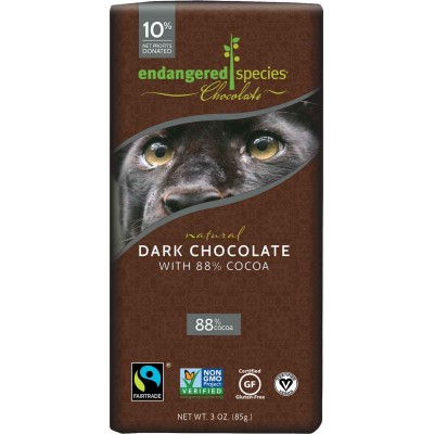 Endangered Species Rainforest Alliance Panther 88% Dark Cocoa Bar