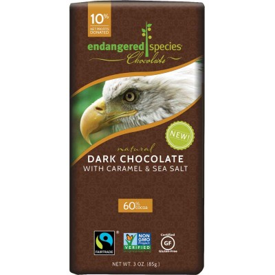 Endangered Species Rainforest Alliance Eagle 60% Seasalt Caramel Cocoa Bar