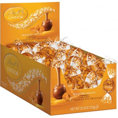 Lindt Milk Chocolate Caramel Lindor Truffles Display
