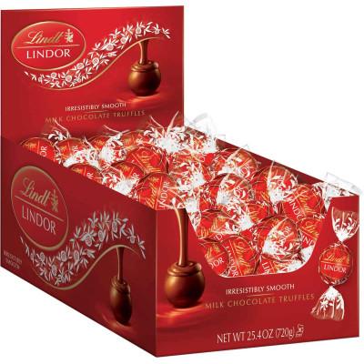 Lindt Milk Chocolate Lindor Truffles Display