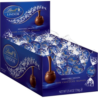 Lindt Dark Chocolate Lindor Truffles Display
