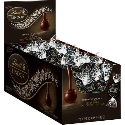 Lindt 60% Extra Dark Chocolate Lindor Truffles Display