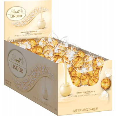 Lindt White Chocolate Lindor Truffles Display