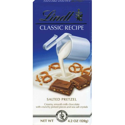 Lindt Milk Chocolate Salted Pretzel Classic Recipes Bar
