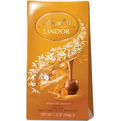 Lindt Caramel Chocolate Lindor Truffles Bag