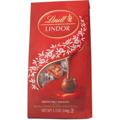 Lindt Milk Chocolate Lindor Truffles Bag
