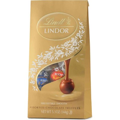 Lindt Assorted Chocolate Lindor Truffles Bag