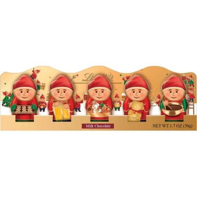 Lindt Milk Chocolate Christmas Elf 5pk