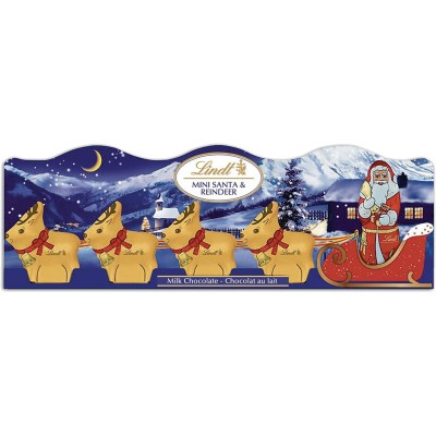Lindt Milk Chocolate Mini Sleigh 5pk