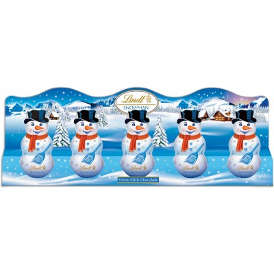 Lindt Milk Chocolate Mini Snowman 5pk
