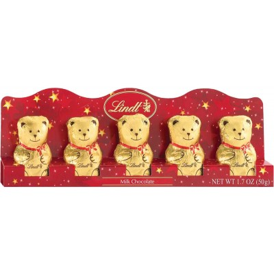 Lindt Milk Chocolate Mini Teddy Bears 5pk