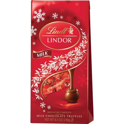 Lindt Holiday Lindor Milk Truffle Bag