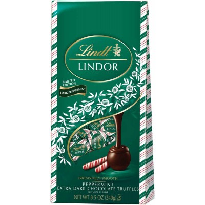 Lindt Holiday Lindor Extra Dark Peppermint Bag