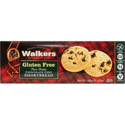 Walkers Gluten Free Shortbread Cookie Chocolate Chip