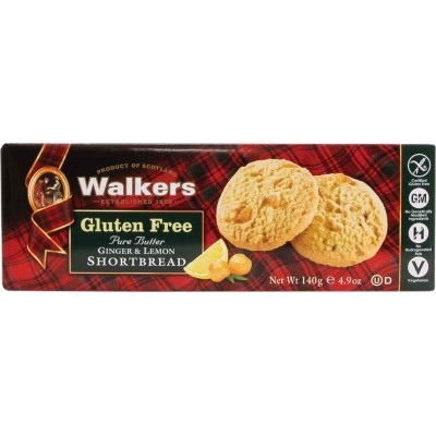 Walkers Gluten Free Shortbread Cookie Ginger and Lemon