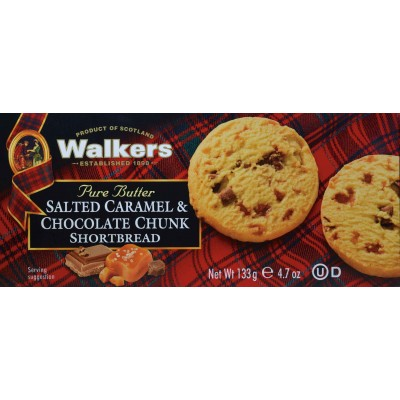 Walkers Salted Caramel / Milk Chocolate Shortbread