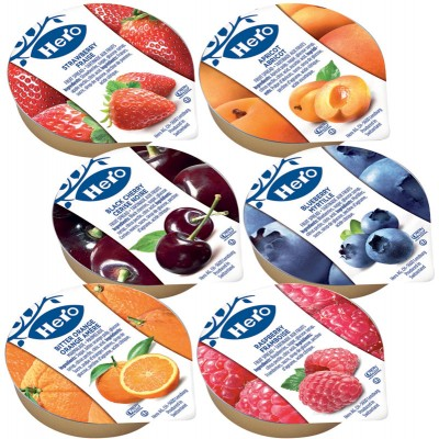 Hero 6 Flavor Assorted Spreads Portion Packs