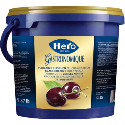Hero Black Cherry Jam Bulk Pail