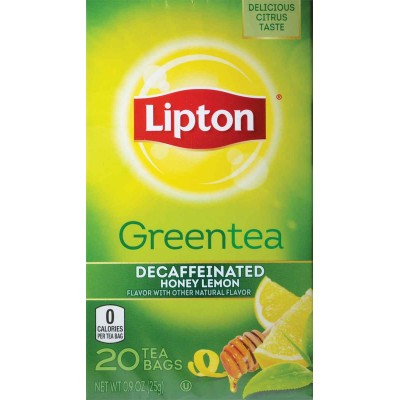 Lipton Decaffeinated Green Tea with Honey and Lemon