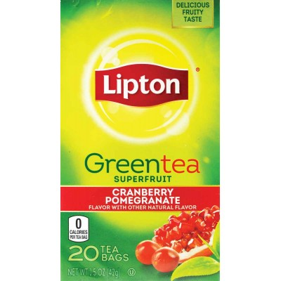 Lipton Cranberry and Pomegranate Green Tea