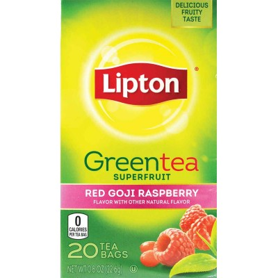 Lipton Red Goji and Raspberry Green Superfruit Tea
