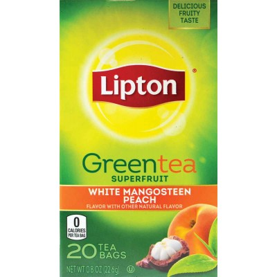Lipton Mangosteen and Peach Green Superfruit Tea
