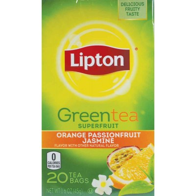 Lipton Orange, Passion, and Jasmine Green Tea