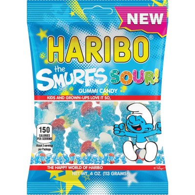 Haribo Sour Smurfs Bag