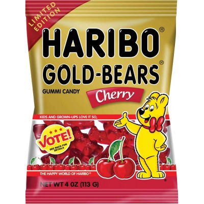 Haribo Cherry Gold Bear Bag Limited Edition Flavor Vote