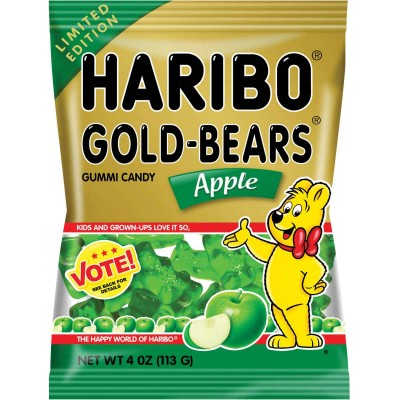 Haribo Apple Gold Bear Bag Limited Edition Flavor Vote