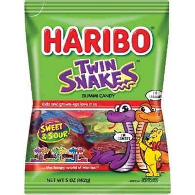 Haribo Twin Snakes Sweet & Sour Gummi Candy Bag